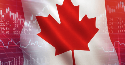 Forex Canada with flag